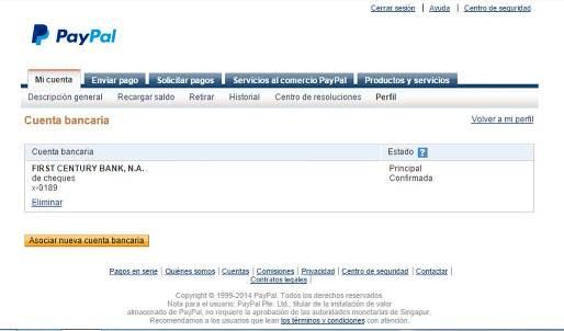 Asociar Paypal con Payoneer y Cuenta en USA